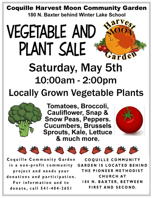 Flyer for Coquille Plant Sale 100dpi 5-18